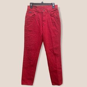 Vintage riders red jeans